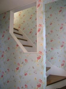階段 輸入壁紙 花柄