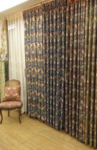 いちご泥棒 川島織物セルコン カーテン サンプル