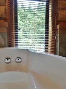 ウッドブラインド,浴室用