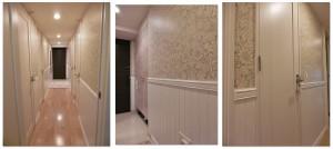 モリス 壁紙 玄関 廊下