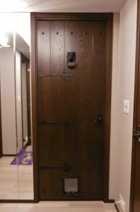 ペット出入り口用ドア・猫用。