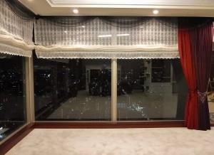 コーナー窓,ローマンシェード