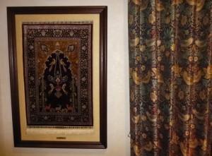 ヘレケ絨毯,カーテン,コーディネート