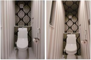 トイレ 輸入壁紙