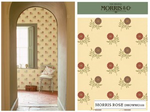 Morris & Co Wallpaper Volume V Morris Rose DMOWMO103