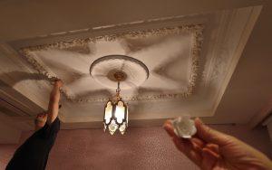 折上げ天井 装飾モールディング