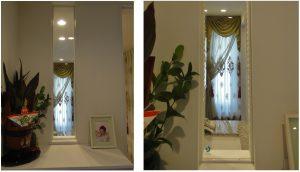 玄関窓 スタイルカーテン