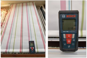レーザー測定器 採寸 バーチカルブラインド