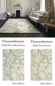 Chrysanthemum 27008 27001 ウィリアムモリス ラグ