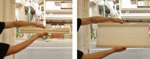 ハニカムスクリーン コードレス式 タチカワ 展示