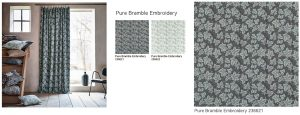 Pure Bramble Embroidery ピュアモリス カーテン