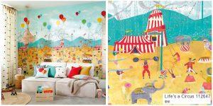 Life's a Circus ハーレクイン 遊園地 サーカス 子供部屋 壁紙