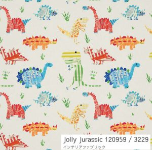 Jolly Jurassic ハーレクイン 恐竜柄 カーテン